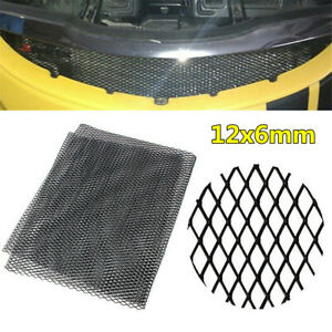 Universal Car Grille Mesh Net Sheet Aluminum Rhombic Auto Grill Section 12x6mm