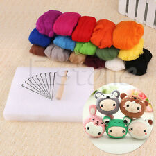 16 Colors Wool Felt Needles Felt Tool Set + Needle Felting Mat Starter Kit