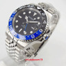 40mm parnis Black Dial Date Sapphire Glass GMT Automatic movement men's Watch