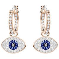Swarovski 5425857 Duo Evil Eye Earrings, Rose Gold Plated, 2.5cm RRP$119