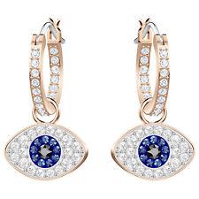 Swarovski 5425857 Duo Evil Eye Pierced Earrings, Rose Gold Plated, 2.5cm RRP$119