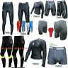 SHADOW Compression shorts top tights vest Baselayer running skins mens (AA)