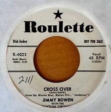 JIMMY BOWEN - CROSS OVER b/w IT'S SHAMEFUL - ROULETTE 45 - WHITE LBL PRO - 1957