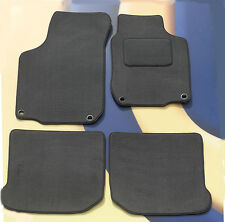 VW GOLF MK4 & V5 97 - 04 GREY CARPET CAR  MATS WITH 4 ROUND CLIPS, SET OF 4 B