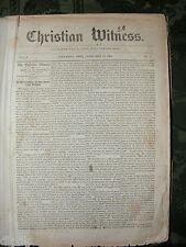 Cival War Original Christian Witness Weekly  1864 to 1865 First Hand War Stories