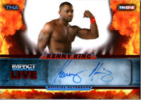 TNA Kenny King 2013 Impact Wrestling LIVE RED Autograph Card SN 4 of 5