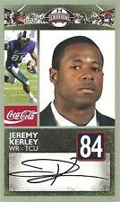 JEREMY KERLEY TCU HORNFROGS SENIOR BOWL CARD