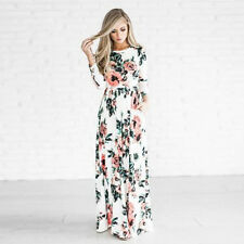 Women Summer Vintage Boho Long Maxi Dress Party Beach Dress Floral Sundress US