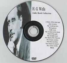 Large H G Wells 29 Audio Books Collection on MP3 DVD Over 68hrs