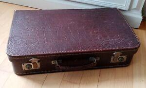 Alter Lederkoffer, Leder Koffer alt, mit Innenfutter, Vintage, gut erhalten