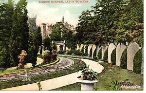 Vintage Postcard, Staffordshire, Alton Towers, Ribbon Border, 1906