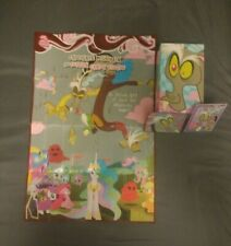 MY LITTLE PONY*DISCORD COLLECTORS BOX*PROMO CARD F43, STICKER & POSTER*SERIES 2