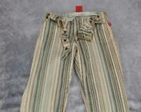 Hot Kiss Womens Striped Stretch Bootcut Denim Jeans Size 5 Multicolor