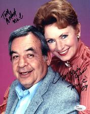 "(SSG) TOM BOSLEY & MARION ROSS Signed 8X10 Color ""Happy Days"" Photo - JSA COA"