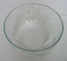 """Mikasa Crystal Frosted Tulip Clear Glass Salad / Punch Bowl 9"""" Dia. x 5"""" Deep"""