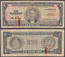 Dominican Republic 1 Peso Oro ND 1964-73 (VG) Condition Banknote P-99