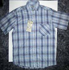 Denim & Rivets Clothing Company Blue Plaid Button-up Short Sleeve Shirt NWT Sm