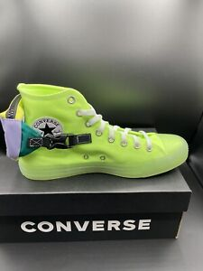 Converse Chuck Taylor All Star Neon Jelly Buckle Up High Top 169030C Size 9