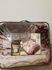 King Size Purple/Pink Flowers Blanket Super Soft Plush Dahdoulhome
