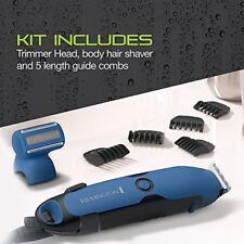 Trimmer For Men Waterproof Body Hair Grooming Kit Beard 5 Combs Rechargeable