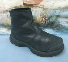 Cougar Mens Black leather curling Zipper boot size 6 M