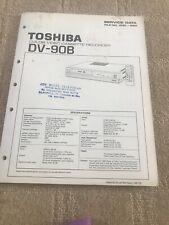 Toshiba DV-908 service manual  For Colour Video Cassette Recorder