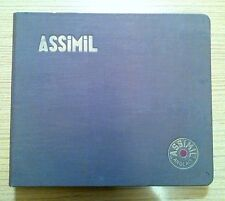 Ancien classeur 45 tours 11 disques Assimil English without toil leçons 1970