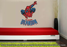 Personalized Spiderman Wall Decal (Removable and Replaceable)