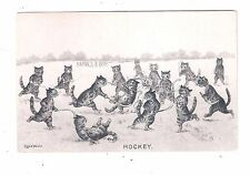 EARLY LOUIS WAIN CATS Playing Wild FIELD HOCKEY Embossed UNDIVIDED BACK PC
