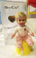 Vintage 1964 SUZY CUTE DOLL with Furniture Clothing & accessories.