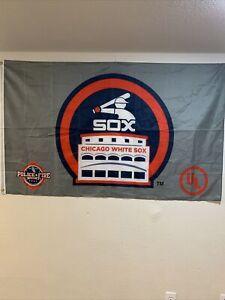 Large Chicago White Sox Banner Flag Nylon Brass Gromets 5ft X 3ft 5'x3'