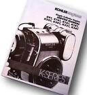 KOHLER ENGINE SERVICE MANUAL K181 K241 K301 K321 K341 REPAIR SHOP OVERHAUL TECH