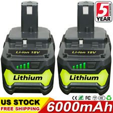 2X 18V 6.0Ah Lithium Ion Battery For Ryobi P108 One+ Plus P104 P102 P103 P107 Us