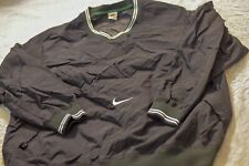 Vintage Nike Pull Over Windbreaker Black And Green 90s XXL