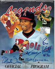 Bo Kimble/Steve Garvey/Monte Irvin/Billy Herman 1991 Legends Program Autographs