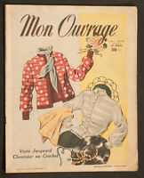 'MON OUVRAGE' FRENCH VINTAGE NEWSPAPER SUMMER ISSUE JUNE 1954