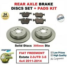 FOR FIAT FREEMONT Estate 2.0JTD 3.6 4x4 2011-2014 REAR BRAKE PADS + DISCS 305mm