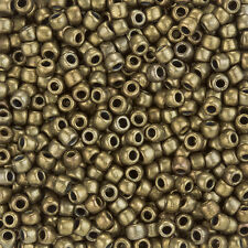 Toho Redondo Talla 6/0 (4mm) Semilla Cuentas Oro Antiguo De Bronce Tubo 11.5g (L93/1)