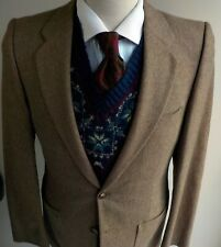 Vtg Yves Saint Laurent for Bamberger's 2 Pc Suit Brown 38R Pants 29X30