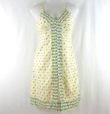 Gap Fitted Sundress 6 Adjustable Straps Yellow Cotton EUC