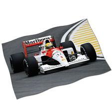 "Ayrton Senna Flag Banner 29"" NEW Honda McLaren Formula One F1 GP Fabric Poster"