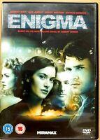 Enigma DVD 2001 WWII Device Code Breaker Drama w/ Kate Winslet + Dougray Scott