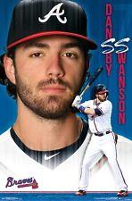 DANSBY SWANSON - ATLANTA BRAVES POSTER - 22x34 MLB BASEBALL 15760