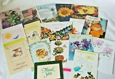18 Assorted Greeting Cards w/Envelopes Birthday Get Well Thank you Blank New B71
