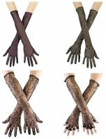 Adult Spider Web Gloves 4 Styles Costume Accessory fnt