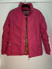 Per Una Ladies Jacket Size S Hot pink Feather & Down Filling Puffed Warm Autumn
