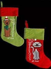 CHRISTMAS SANTA PET DOG STOCKING PRINT DESIGN