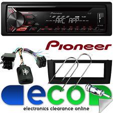 Fiat Grande Punto Pioneer CD MP3 USB AUX Auto Stereo & Volante Nero Cruscotto