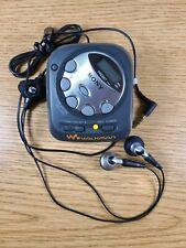 SONY SRF-M35 Walkman FM/AM Stereo Clock Portable Radio with headphones Gym WORKS
