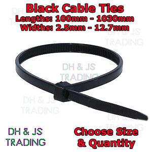 Black Nylon Plastic Cable Ties Zip Tie Wrap Cable Tie Long All Sizes